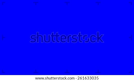 Blue Screen with position markers for compositing, 8K FUHD 16:9 original size - anchors are Blue value over 200 for easy removal - stock photo