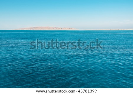 Blue sea and island