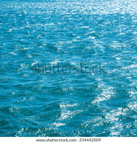Blue sea for background. Natural water texture - stock photo