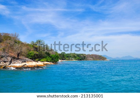Blue sea Koh Samet of Thailand - stock photo
