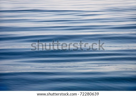 blue sea surface is calm - stock photo