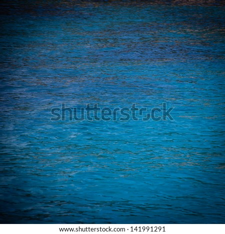 Blue sea surface with waves. - stock photo