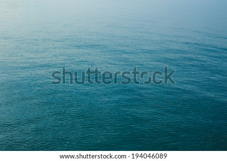 Blue sea surface with waves, Abstract background - stock photo