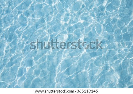 Blue sea surface with waves reflection aqua perspective background - stock photo
