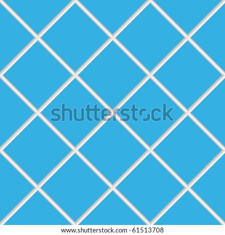 blue seamless ceramic tiles, abstract diagonal texture; art illustration; for vector format please visit my gallery - stock photo