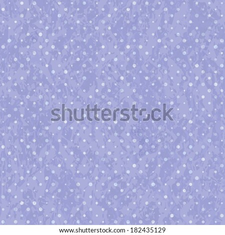 Blue Seamless Polka Dot Old Pattern. Retro Styled Background - stock photo