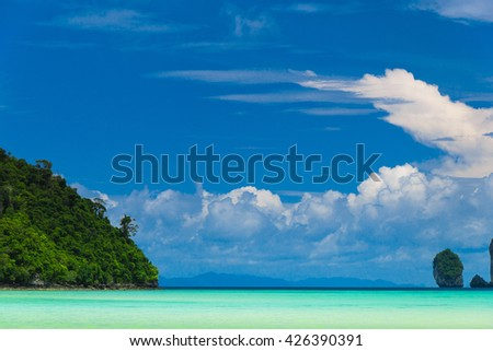 Blue Seascape Tranquil Bay  - stock photo