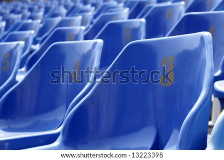 Blue seats - stock photo