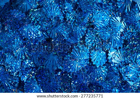 Blue sequins texture - stock photo