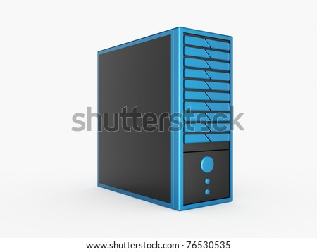 Blue Server - stock photo