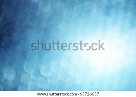 Blue shapes and spot of light - stock photo