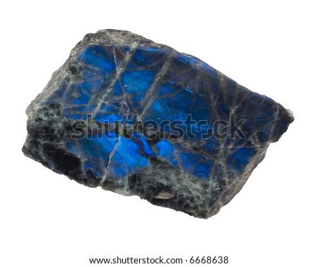 Blue shining labradorite - stock photo
