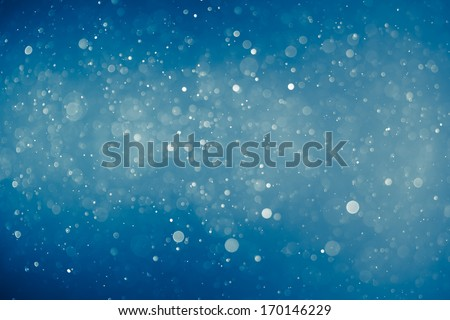 blue shiny bokeh background - stock photo