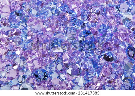 Blue shiny gems closeup photo - stock photo
