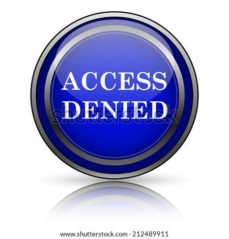 Blue shiny icon on white background. Internet button. - stock photo
