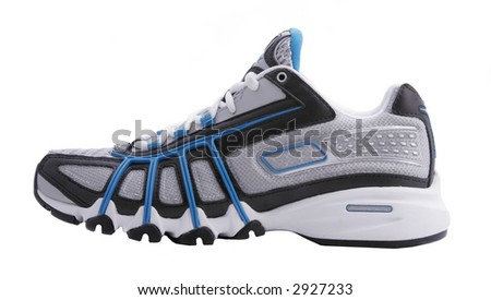 blue shoes - stock photo