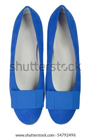 blue shoes - stock photo
