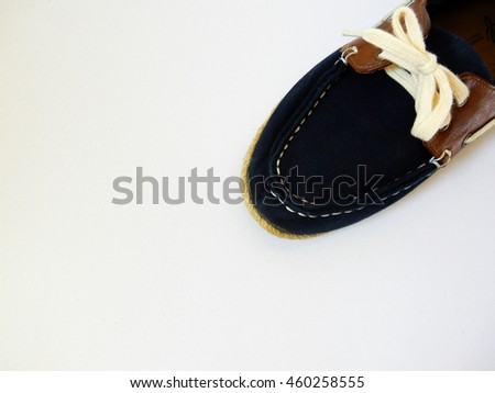 blue shoes laces on white background