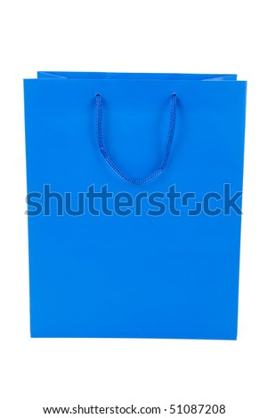 Blue Shopping Bag close up shot