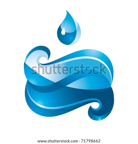 Blue Sign Water. Bitmap copy my vector ID 49628725 - stock photo