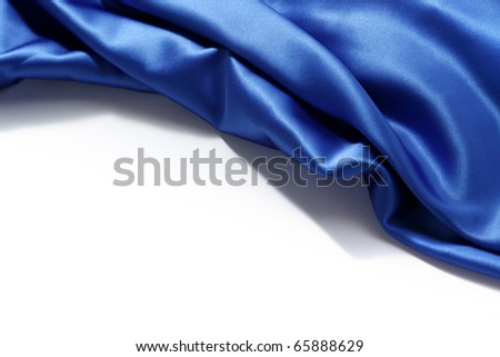 blue silk background - stock photo
