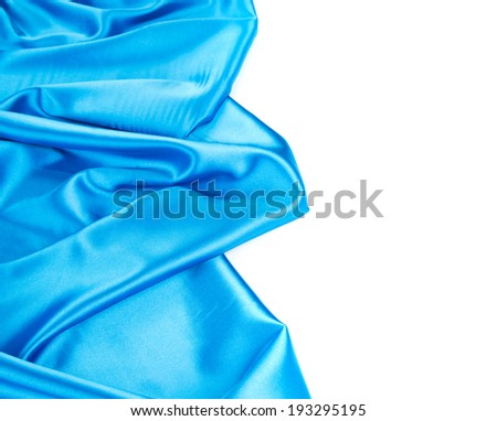 Blue silk background with some soft fold. Whole background.