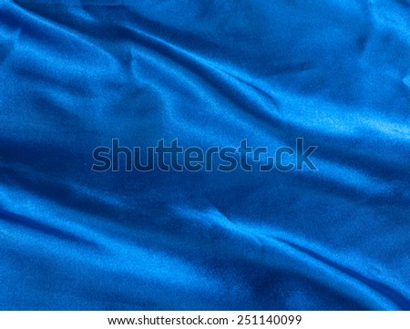 Blue silk drapery background. - stock photo