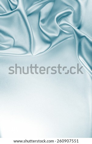 Blue Silk Fabric Texture for Drapery Abstract Background - stock photo