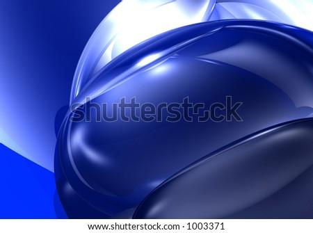 blue&silver spheres - stock photo