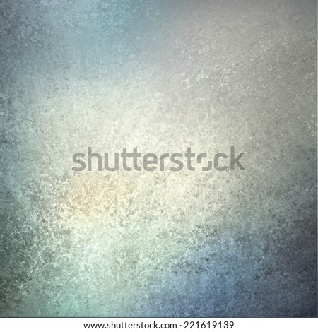 blue silver white background paper, vintage texture and distressed soft blue border color - stock photo