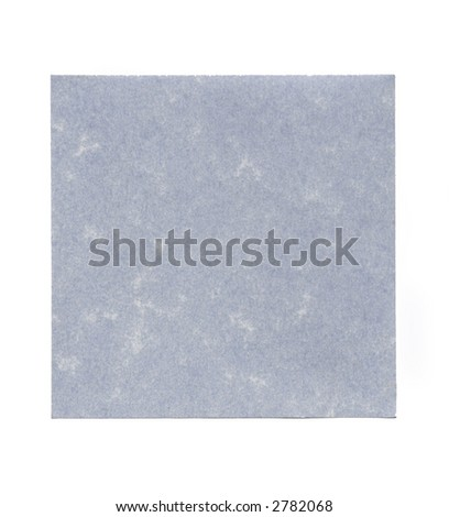 Blue Simple Plain Blank Post-It Note, Space For Own Text, Background