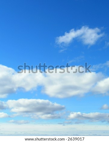 Blue Skies and white clouds