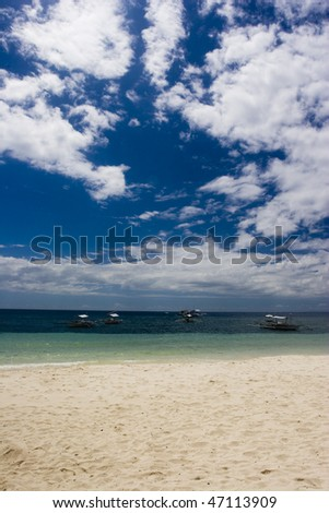 blue skies, clear waters - stock photo