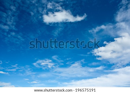 Blue sky - stock photo