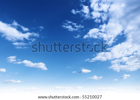 Blue sky, - stock photo