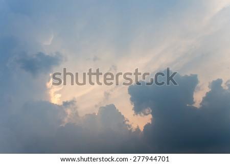 Blue sky after sunset - stock photo