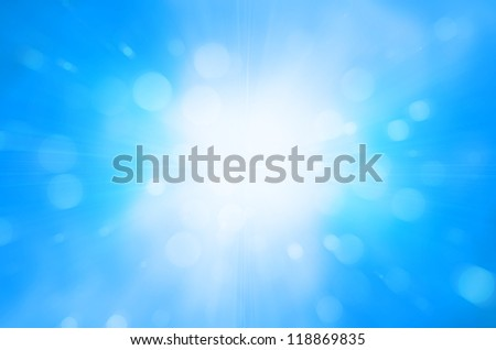 blue sky and circles background - stock photo