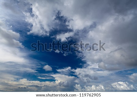 Blue Sky and Cloud - stock photo