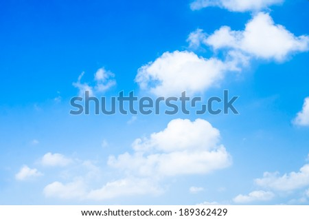 Blue Sky and cloud, background