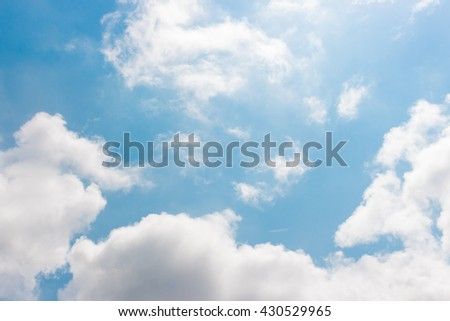 Blue sky and cloud. For abstract background or insert text copy space.