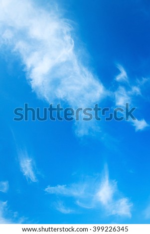 Blue sky and clouds. - stock photo