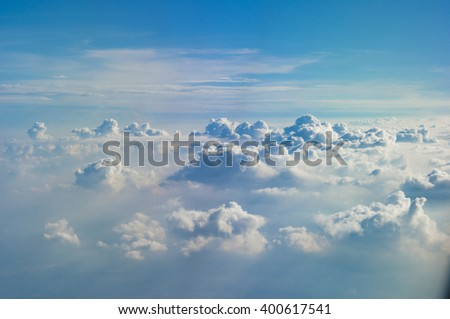 Blue sky and clouds abstract  - stock photo