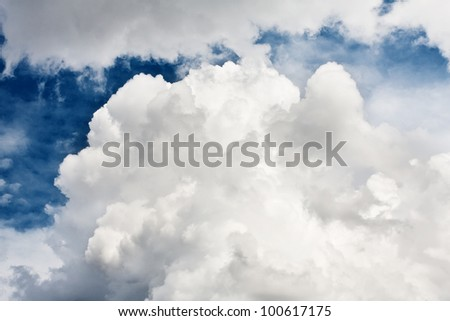 Blue sky and  clouds , abstract background - stock photo