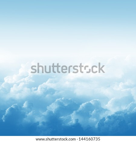 Blue sky and clouds abstract illustration - stock photo