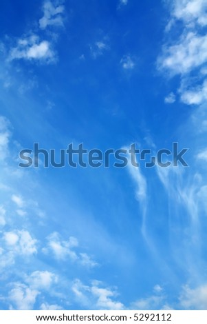 Blue Sky and Clouds, Atmospheric Phenomena