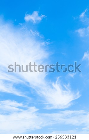 blue sky and clouds - bright climate peaceful weather daylight heavenly