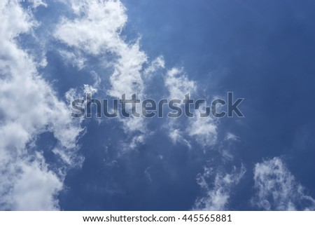 blue sky and clouds for background - can use to display or montage on product - stock photo