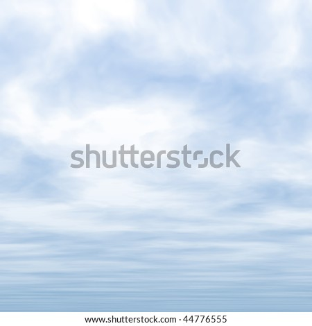 Blue sky and clouds illustration - stock photo