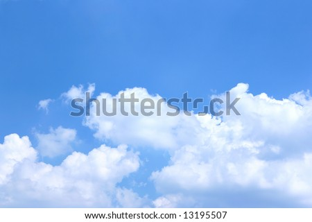 Blue sky and clouds, may be used as background - stock photo