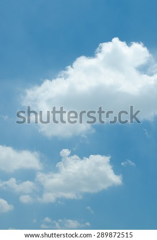 Blue sky and clouds, used as background /Blue sky with clouds/ Blue sky with lots clouds (blue, sky, clouds) - stock photo